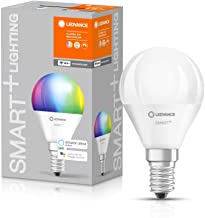 LEDVANCE LED Lamp | E14 | RGBW | 2700…6500 K | 5 W = 40 W | Frosted | Smart+ WiFi Mini Bulb Multicolour