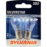 SYLVANIA - 2057ST.BP2 - 2057 SilverStar Mini Bulb - Brighter and Whiter Light, Ideal for Daytime Running Lights (DRL) and Reverse Lights (Contains 2 Bulbs)
