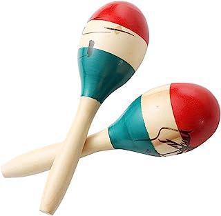 چوب های رنگارنگ بزرگ رنگارنگ Maracas Rumba Shakers Rattle کوبه ای ماسه ساز موسیقی بزرگ چکش با ریتم Salsa برای مهمانی ، بازی ها. (رنگارنگ)