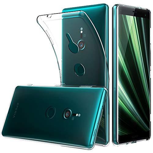 Peakally Sony Xperia XZ3 Hülle, Soft Silikon Dünn Transparent Hüllen [Kratzfest] [Anti Slip] Durchsichtige TPU Schutzhülle Case Weiche Handyhülle für Sony Xperia XZ3 -Klar