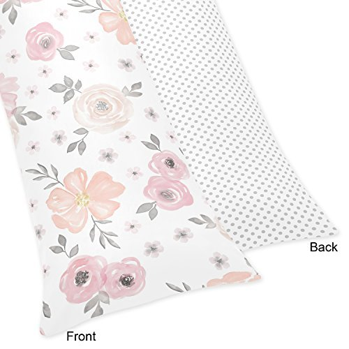Sweet Jojo Designs Blush Pink, Grey and White Body Pillow...