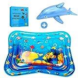 ASANMU Wassermatte Baby Groß, Wasserspielmatte Baby Spielzeug Wassergefüllte Aufblasbare Baby Wassermatte Wasserpark SäuglingeSpielmatte für Baby Kinder Spaßaktivitäten ab 3 6 9 Monate (100 * 80 cm)