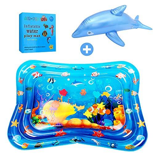ASANMU Wassermatte Baby Groß, Wasserspielmatte Baby Spielzeug Wassergefüllte Aufblasbare Baby Wassermatte...