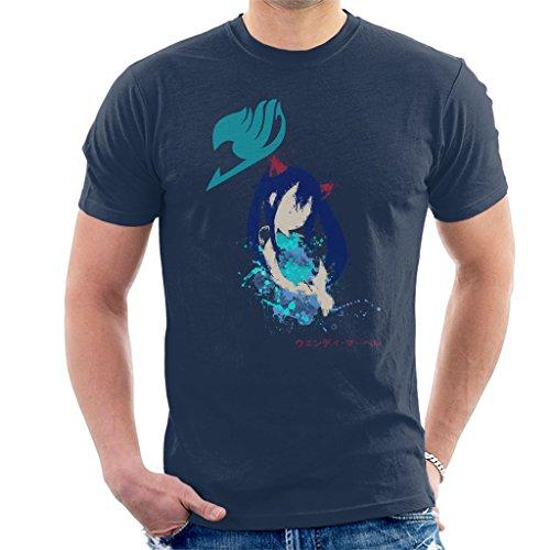 Fairy Tail Wendy Silhouette Splatter Men's T-Shirt