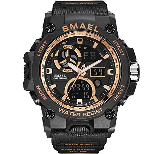SMAELBand Reloj del Deporte de los Hombres de Juguete Ejército Militar Relojes de los Hombres De Pulsera Impermeable S de Choque 50m La Moda de los Hombres Relojes Deportivos 8011,Black Rose G