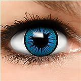 Farbige Kontaktlinsen Engel in blau + Behälter - Top Linsenfinder Markenqualität, 1Paar (2 Stück)