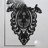 Cuello de encaje de perlas de alta calidad bordado apliques de costura DIY escote de encaje hueco accesorios de ropa decorativos