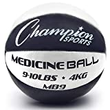 Champion Sports MB9 Exercise Medicine Balls, 9-10 lbs, Leather with No-Slip Grip for Weight Training, Stability, Plyometrics, Cross Training, Core Strength