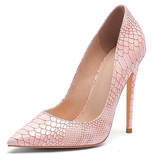 Lydee Mujer Moda Stiletto Heels Zapatos Ponerse Basic Pumps Dedo del Pie...