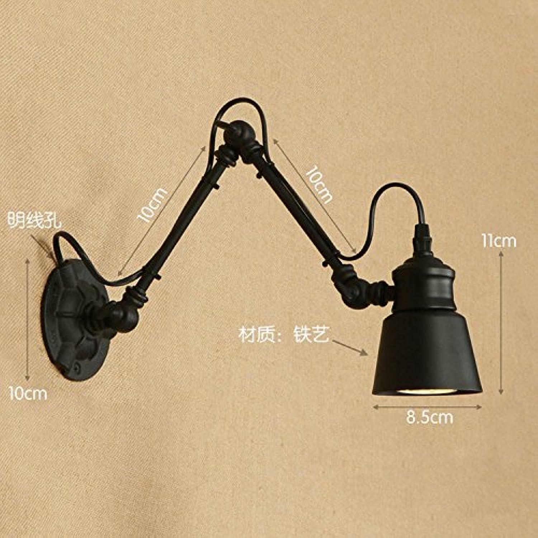 StiefelU LED Wandleuchte nach oben und unten Wandleuchten Doppel Abschnitt mit Schalter off road Korridor anlage Verstellbarer Langarm-light Wandleuchte, 10 + 10 cm mit LED-Lichtquelle