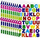 Janegio 40 Sheets Colorful Letter Stickers Alphabet Stickers Cardstock Stickers A to Z Self Adhesive Letter Stickers