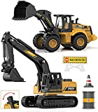 Toys Excavator Bulldozer Truck for Kids, Geyiie Upgrade Construction Tractor Toys, Engineer...