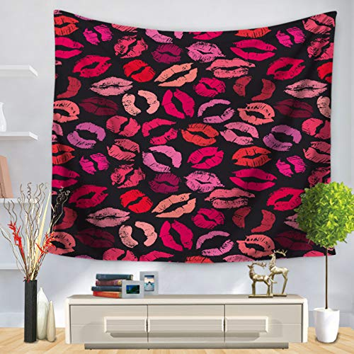 UDstrap Girly Dekor Wandteppich Wandbehang Kosmetische Make-up Thema Parfüm Lippenstift Nagellack Pinsel Moderne Stadt Lady Dekor 150 * 200CM E