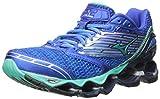 Mizuno Women's Wave Prophecy 5 Running Shoe, Diva Blue/Electric Green, 9 B US