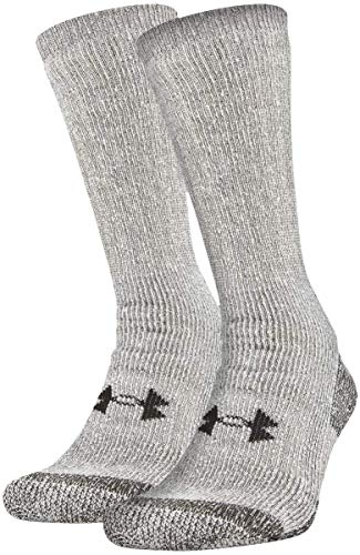 Under Armour Adult Hitch Coldgear Boot Socks, 2-Pairs , Grey, Large