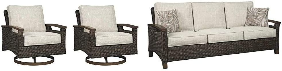 Signature Design by Ashley - Trail Loung Outdoor Baltimore Raleigh Mall Mall Swivel Paradise
