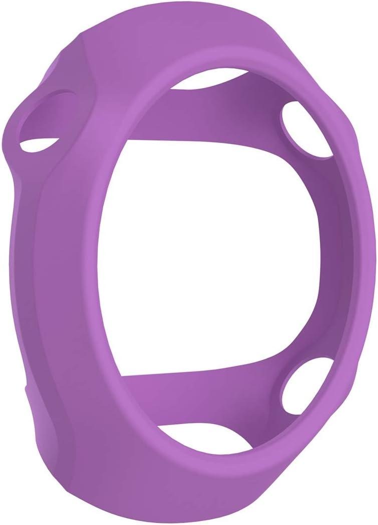 WATCHCASE/Funda Protectora de Silicona de Reloj Inteligente para Garmin Forerunner 610, La decoración de la Moda Protege el Marco del re (Color : Purple)
