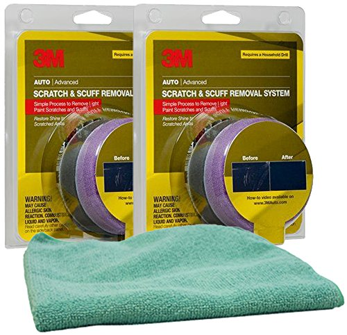 3M Scratch Remover Kit Bundle with Microfiber Cloth (3 Items)