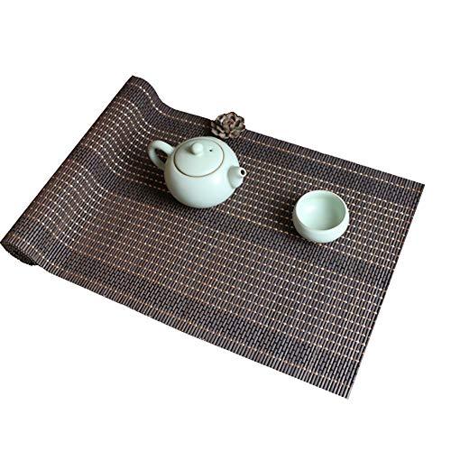 Tischläufer WSF Roll-Up Tea Tischset, Im Japanischen Stil Bambus Tischläufer for Speisetisch Dekor Innen- Und Außen, 30cm / 60cm / 90cm / 120cm Breit (Size : 30x80cm)