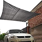 HIPPO - Decorative - 2 in 1 Waterproof Rain Outdoor Sun Shade Sails - Attached SS Buckles (Black, 2.7 mt X 2.7 mt)