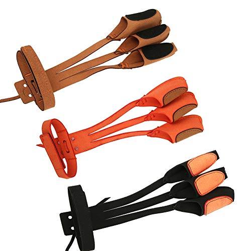 Guante de tiro hecho de microfibra de pelo de doble cara Protección de 3 dedos Tiro con arco Arco recurvo Guante de protección de 3 dedos Equipo de protección de tiro con arco tradicional(marrón)
