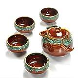 xuzheng - Tazas de té de cerámica de esmalte, Kung Fu Teaware Sets, set de té, tetera teaset Gaiwan Set,tazas de té de ceremonia de té maestro tetera, ver la tabla