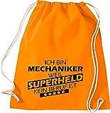 Camiseta stown Turn Bolsa Ich bin mecánicos, porque Super Held No Profesión es, naranja