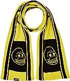 Cheap Monday Cheap Scarf Logo Bufanda, Multicolor (Black/Bright Yellow), Talla única Unisex Adulto