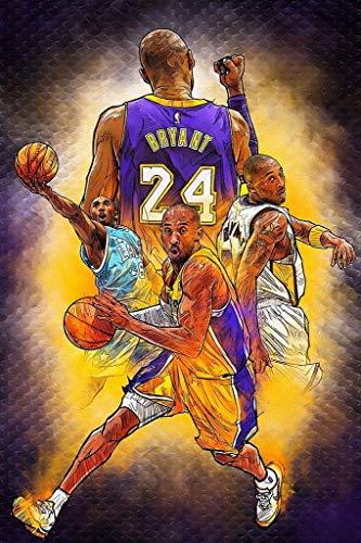 Kobe Bryant - Póster de la NBA de la jubilación del juego de baloncesto (30,5 x 45,7 cm)