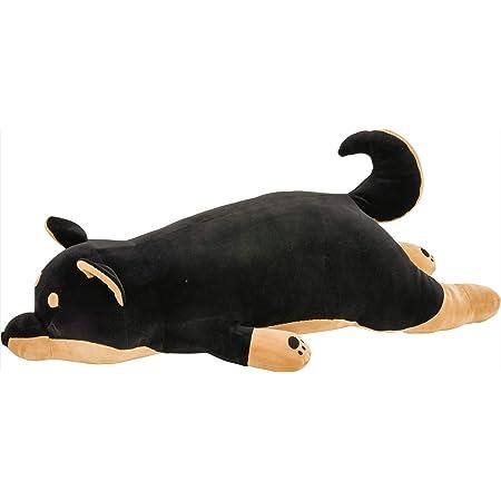 りぶはあと 抱き枕 プレミアムねむねむアニマルズ 黒柴のコテツ Lサイズ(全長約73cm) ふわふわ もちもち 48768-73