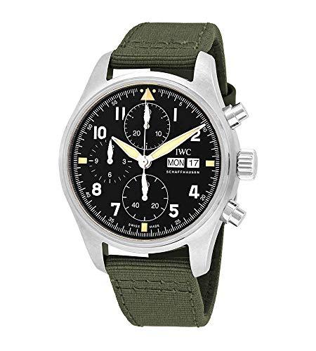 IWC Pilot Spitfire IW387901 Reloj cronógrafo automático para hombre con esfera negra