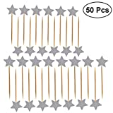 ULTNICE 50pcs Star Cupcake Toppers Glitter Picks Cocktail Sticks Cibo stuzzicadenti Comple...