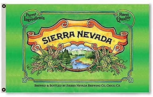 Hdadwy Bandera de cerveza de Sierra Nevada, decoración de cueva de hombre de 3 x 5 pies