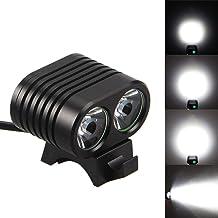 OHQ Linterna Luz De Bicicleta USB 6000LM 2 X XM-L T6 LED USB L/áMpara Impermeable Bicicleta Bicicleta Linterna Alto L/úMenes Linterna Recargable