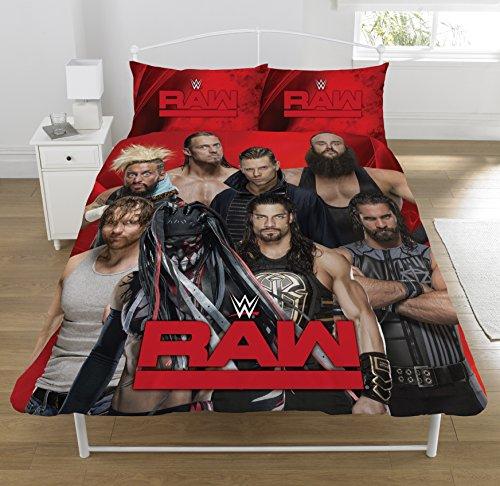 WWE ' RAW v Smackdown' Double Duvet Set, Polyester-Cotton, Multi