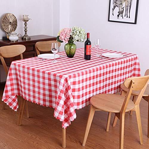 XXDD Idílico Juego de Mesa de Picnic de celosía Rectangular Mantel Restaurante Boda Comedor Fiesta Cubierta de Mantel Exterior A7 135x180cm