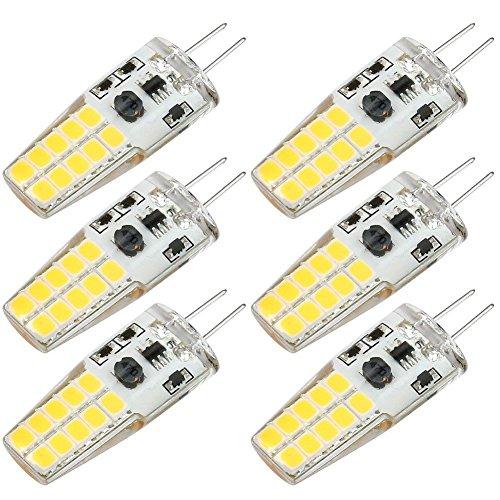 Kakanuo Bombillas LED G4 3W Equivalente a 30W 300LM Blanco Cálido 3000K Non-Regulable AC/DC10-20V 4Piezas [Clase de eficiencia energética A+]