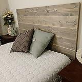 Kerns Wood Works New King Gray Rustic Headboard - Sanded Edges