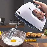 Mezclador de mano eléctrico, mezclador de cocina de 7 velocidades con mezclador de mano turbo para cocina, incluye batidora, batidora, batidora y batidora, color blanco