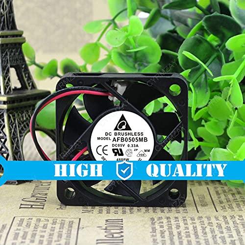 CYRMZAY Ventilador Compatible para Delta AFB0505MB 5V 0.33A 2-Wire 5CM 5015 USB Mute Ventilador