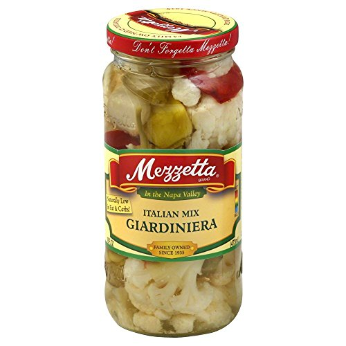 Mezzetta Italian Mix, Giardiniera, 16-Ounce (Pack of 3)