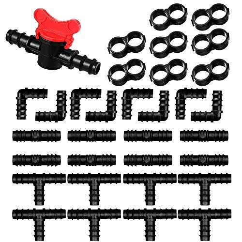 YGHH Kit de Accesorios Riego, 33 Piezas Conectores de Púas