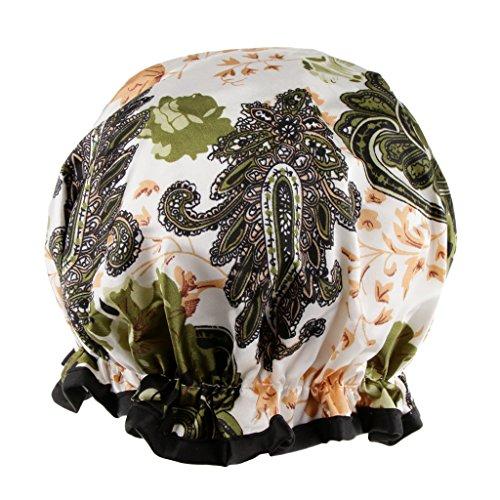 Sharplace Imperméable Femme Bonnet Chapeau de Douche de Bain en Plastique Elastique Extensible pour SPA Maquillage Baignoire