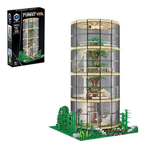 SESAY Haus Bausteine Bausatz, Baumhaus Modular mit Beleuchtung Architektur Modell, 3495 Teile Kompatibel mit Lego