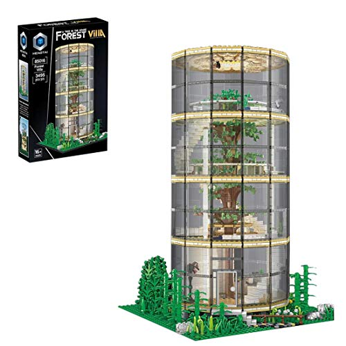 PEXL Haus Bausteine Bausatz, Ideas Baumhaus Modular Architektur Modell mit LED-Beleuchtung, 3490 Klemmbausteine Kompatibel mit Lego