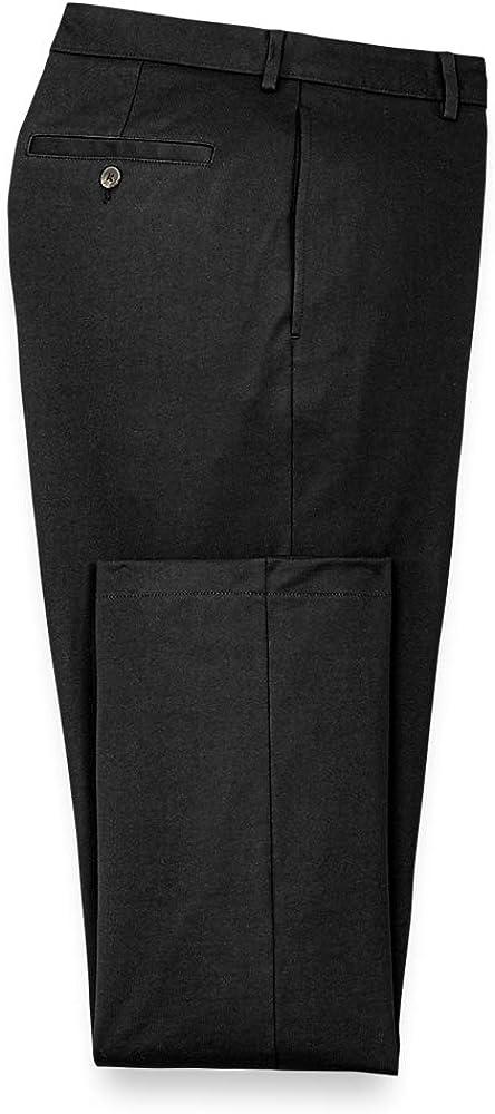 Paul Fredrick Men's Cotton Knit Flat Front Pants, Size 44 X 32 Black