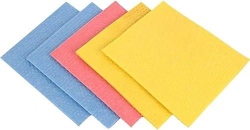 Ziesha Memory Foam Cellulose Cleaning Sponge Mop (16x20x0.5 cm; Multicolour)