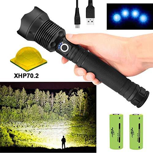 LED-Taschenlampe 90000 Lumen Xhp70.2 Leistungsstärkste Taschenlampe 26650 USB-Taschenlampe Xhp70 Xhp50 Laterne 18650 Jagdlampe Handlicht
