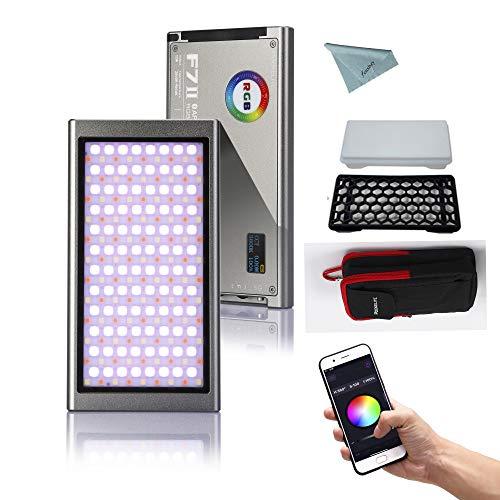 Falcon Eyes F7 II 12W RGB LED Video Light 2500K-9000K Support APP Control CRI 96+,HSI/RGB/LEE/Rosco Mode