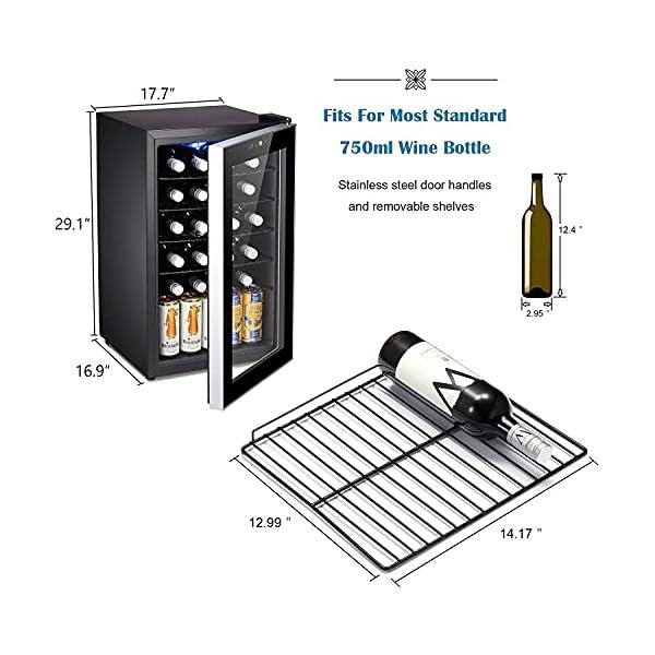 24 Bottle Wine Cooler bottles on side